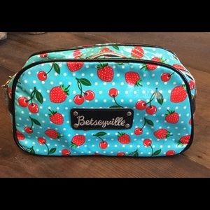 Betseyville Betsey Johnson cosmetic bag cherries